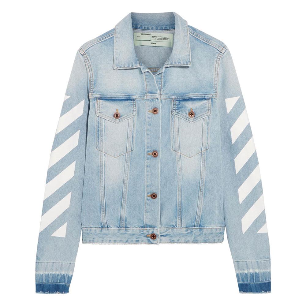 rivenditore all'ingrosso e0d80 e0ddb Lyst - Giacca di jeans ricamata Off-White - Lyst Index Q3 2018