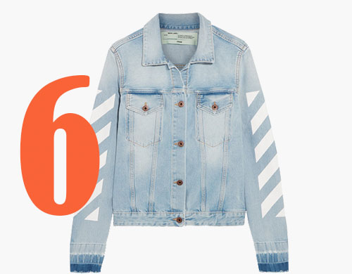 Off-White Denim-Jacket mit Druck