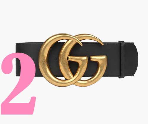 Gucci logo belt